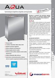 Toplotna črpalka VarmeMecaterm Aqua - tehnični list