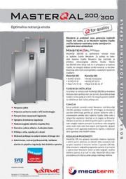 Tehnični list notranje enote VarmeMecaterm - MasterQal300